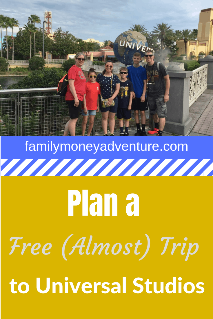 How to Plan an (Almost) Free Family Vacation to Universal Studios Orlando
